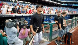 San Francisco Giants infielder and District native Emmanuel Burris is an anomaly - only 8.5 percent of players on major league rosters Opening Day were black. (Rod Lamkey Jr./The Washington Times)