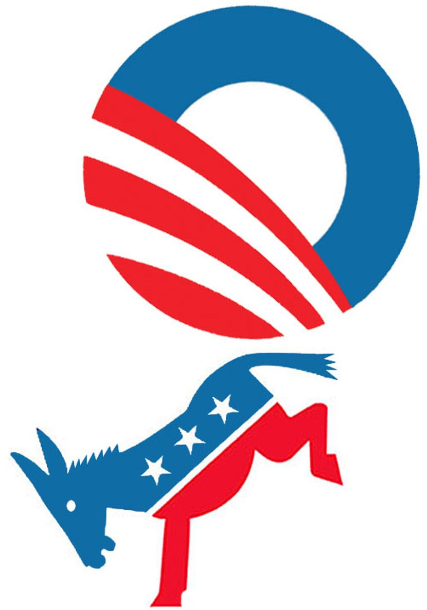Illustration: Obama losing party support