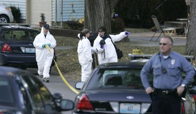 Crime-scene investigators from the Kansas City Police Department begin their search at the home of missing toddler Lisa Irwin on Wednesday morning, Oct. 19, 2011, in Kansas City, Mo. (AP Photo/The Kansas City Star, Fred Blocher)