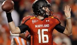 Quarterback C.J. Brown was familiar with zone reads and four-wideout formations upon arriving at Maryland. (Associated Press)