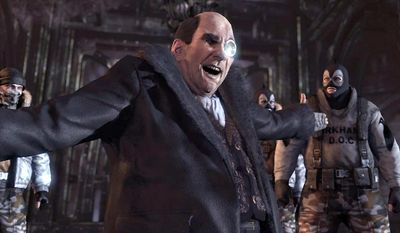 The Penguin causes big trouble for Joker and Mr. Freeze in the video game Batman: Arkham City.