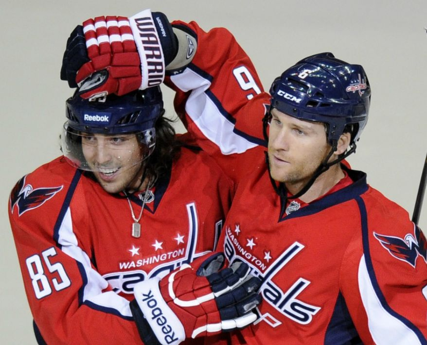 With Jay Beagle out of the lineup, 23-year-old Mathieu Perreault has really impressed in his fourth-line role. He had two points -- and scored his first goal of the season against the Philadelphia Flyers on Thursday. (AP Photo/Nick Wass)