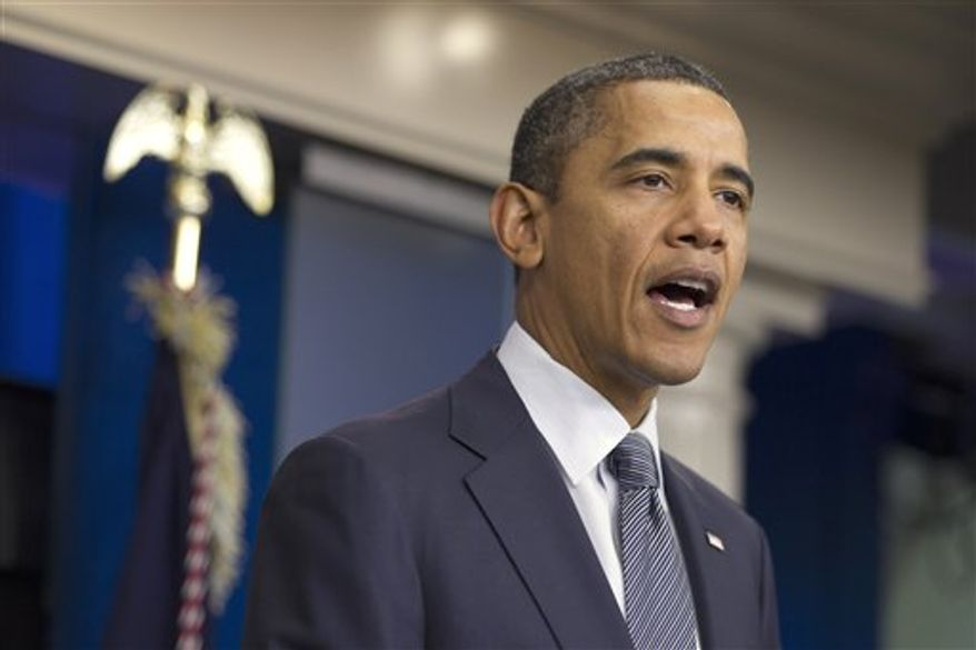 President Barack Obama speaks in the briefing room of the White House in Washington, Friday, Oct. 21, 2011, where he declared an end to the Iraq war, one of the longest and most divisive conflicts in U.S. history, announcing that all U.S. troops would be withdrawn from the country by year's end. (AP Photo/Evan Vucci)