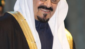 ** FILE ** In this Sunday, Nov. 16, 2008, file photo, Saudi Arabia's Crown Prince Sultan bin Abdel Aziz arrives at the awards ceremony of the Prince Sultan bin Abdul Aziz al-Saud International Prize at King Fahd Cultural center in Riyadh, Saudi Arabia. Saudi TV said Saturday morning Oct. 22, 2011, the kingdom's heir to the throne has died abroad after an illness. He was 85 years old. (AP Photo/Hassan Ammar, File)