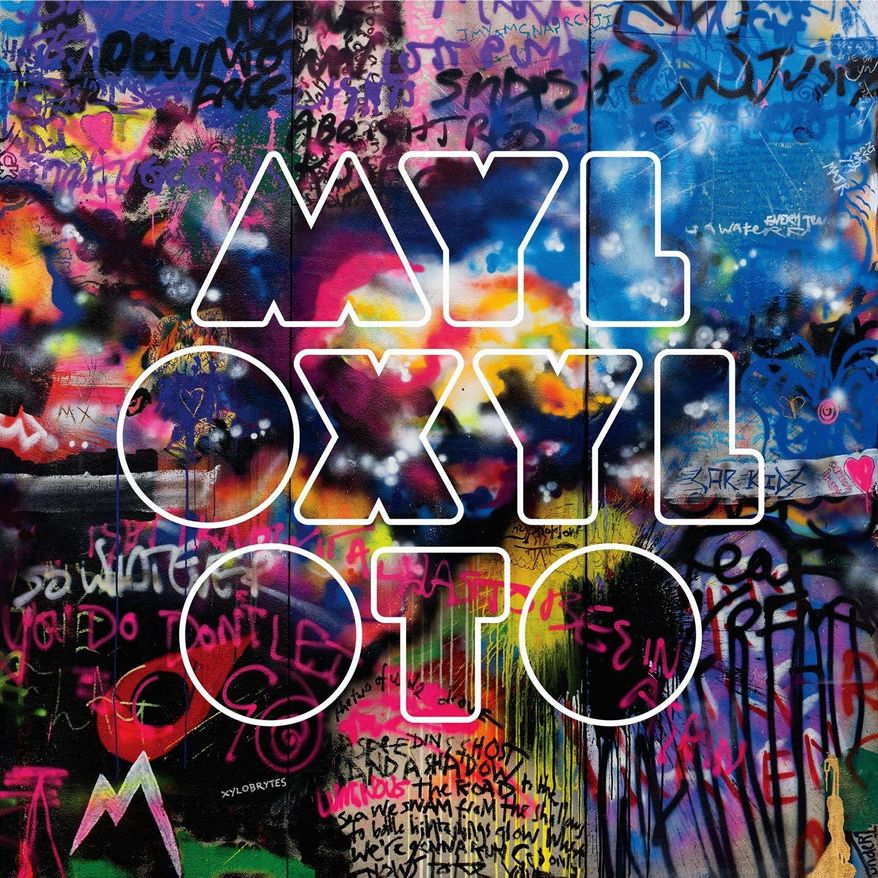 "In this CD cover image released by Capitol Records, the latest release by Coldplay, ""Mylo Xyloto"" is shown (AP Photo/Capitol Records)"