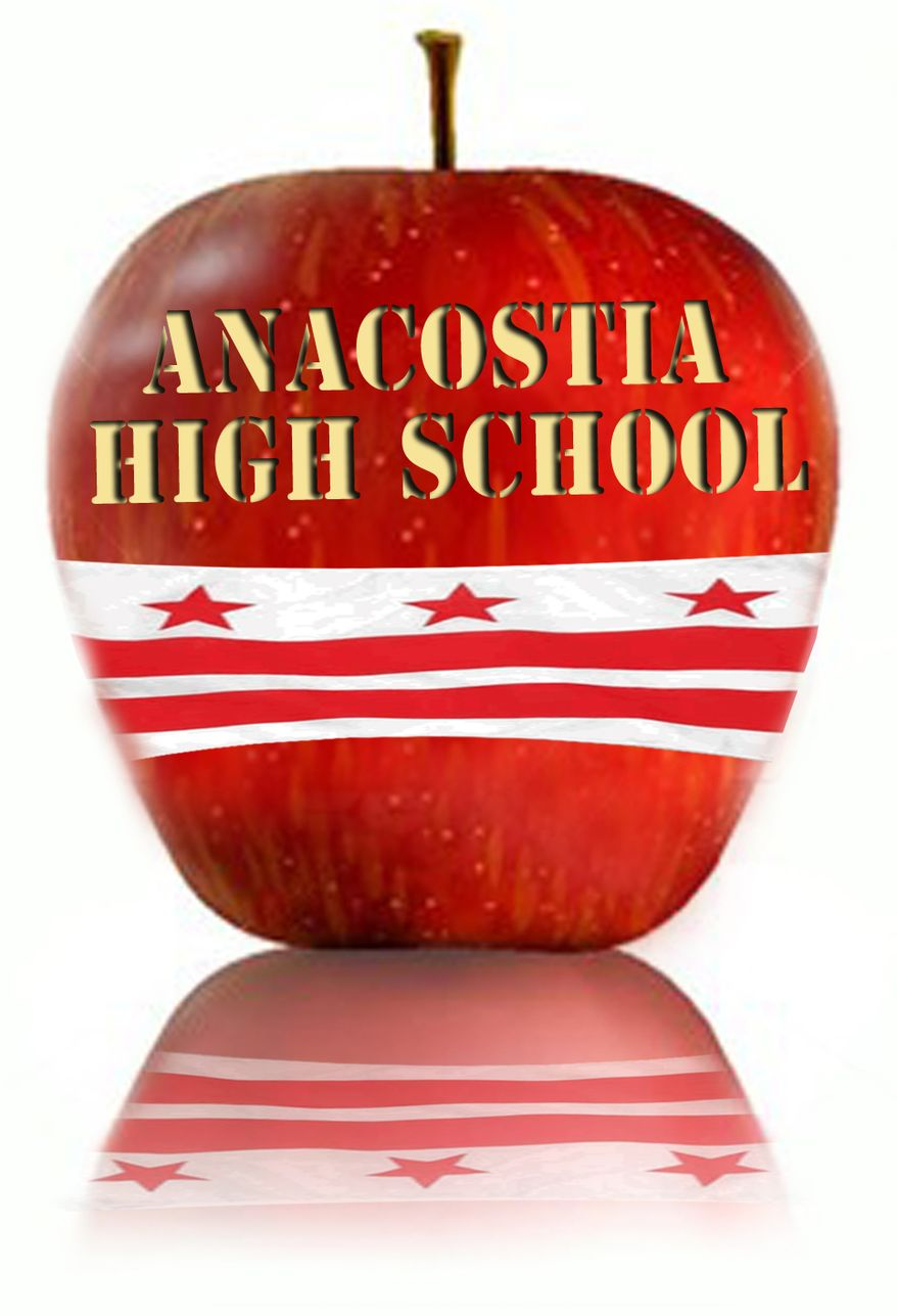 Illustration: Anacostia High School by John Camejo for The Washington Times