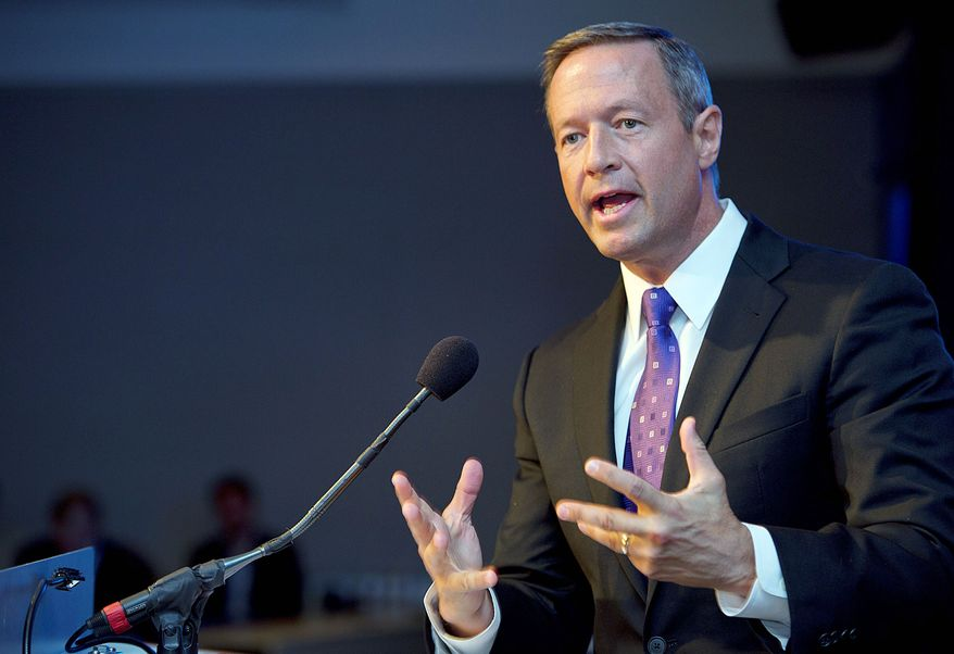 Maryland Gov. Martin O'Malley asked for ideas and got a lot of them on how the state can be more business-friendly. (Barbara Salisbury/The Washington Times)