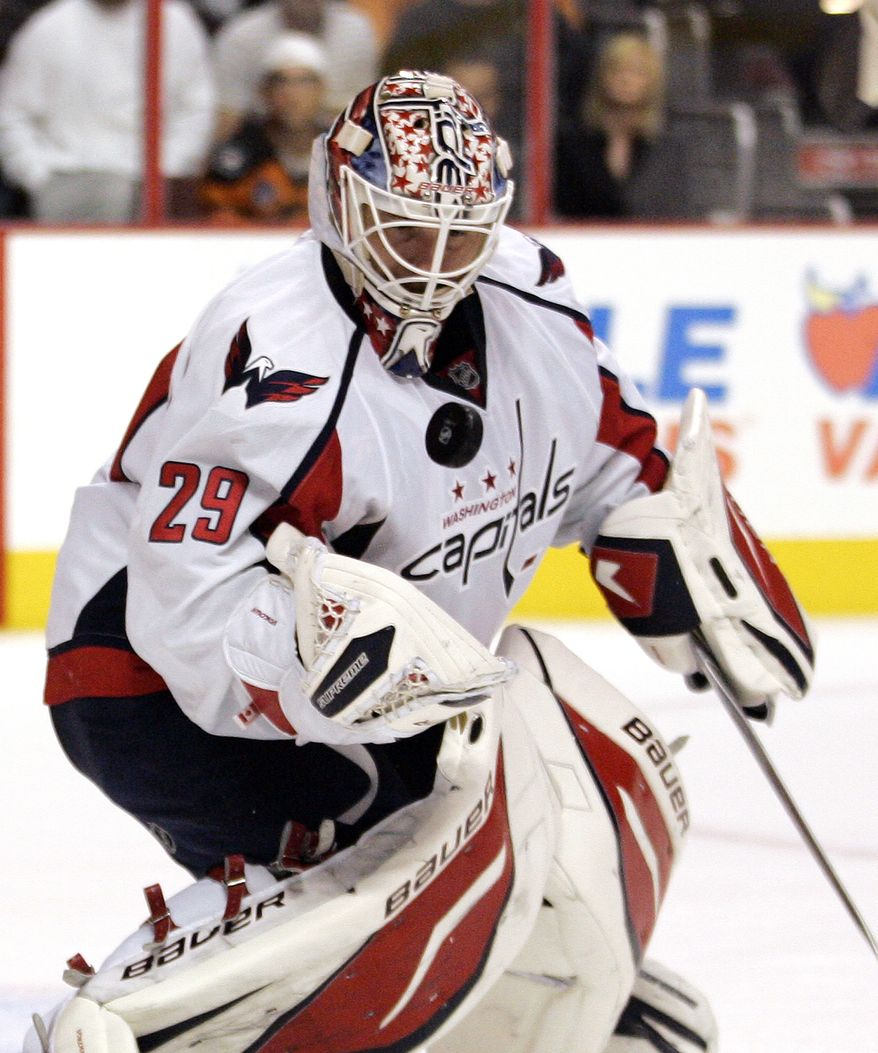 Washington Capitals goalie Tomas Vokoun is 6-0-0 on the season, with a 1.80 goals-against average and .944 save percentage. He'll get the start against the Edmonton Oilers on Thursday night. (AP Photo/Tom Mihalek)