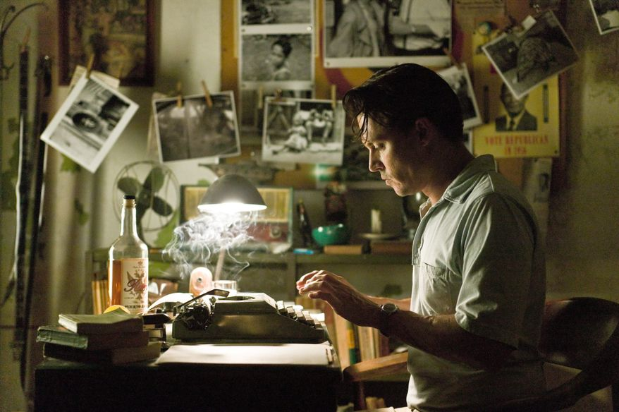 """Johnny Depp plays a booze-addled reporter with a career decision to make in """"The Rum Diary."""" (Associated Press)"""