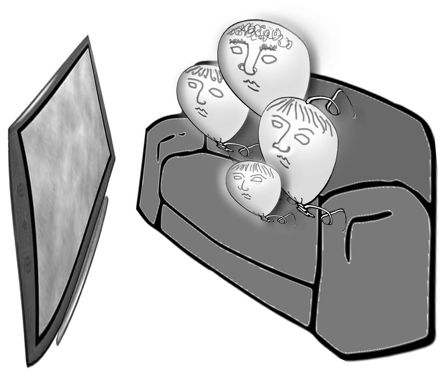 Illustration: Family TV by John Camejo for The Washington Times