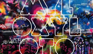 """In this CD cover image released by Capitol Records, the latest release by Coldplay, """"Mylo Xyloto"""" is shown (AP Photo/Capitol Records)"""