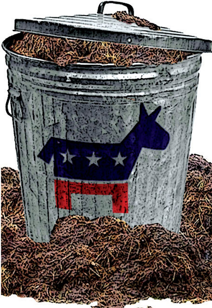 Illustration: Democrats choosing slime