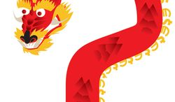 Illustration: China and the euro by Linas Garsys for The Washington Times