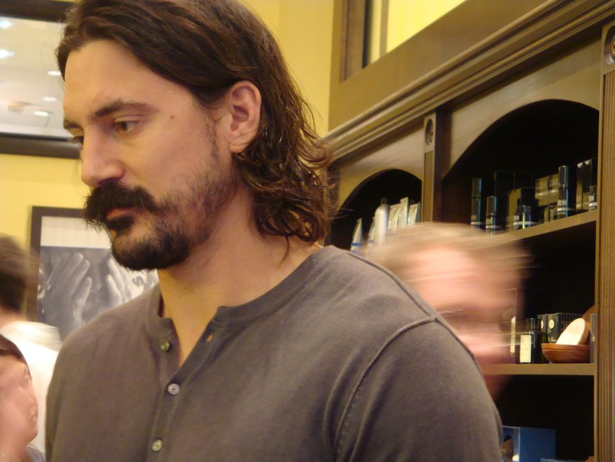 George Parros ... before his shave. (Jess Milcetich)