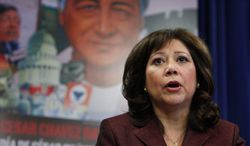 """""""We don't have to sit back and allow a minority in the Congress, known as the tea party, to dominate the discussion in our households,"""" Labor Secretary Hilda L. Solis recently said."""