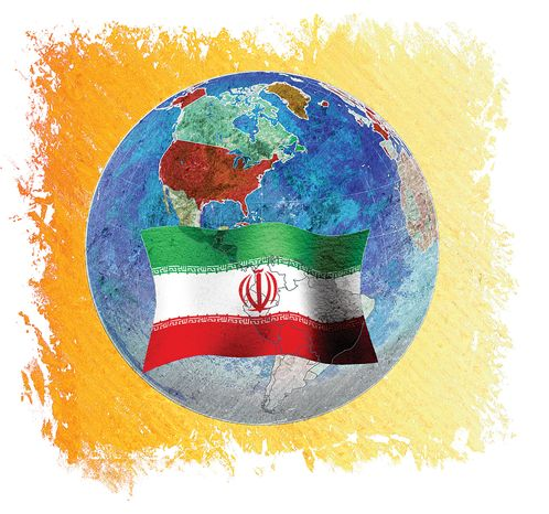 Illustration: Iran influence by Greg Groesch for The Washington Times