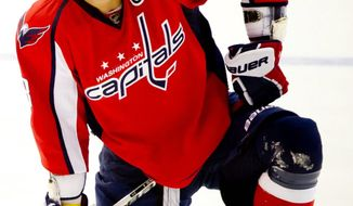 Left wing Alex Ovechkin was having a subpar game Tuesday, so he was bypassed when the Capitals were searching for the tying goal in the waning moments. (Andrew Harnik/The Washington Times)