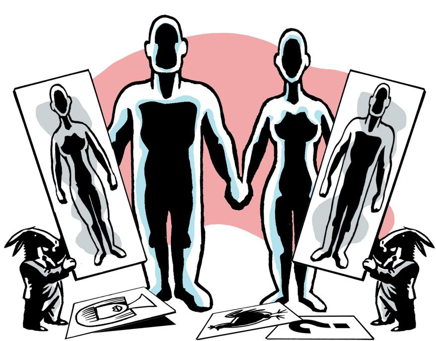 Illustration: Marriage by Alexander Hunter for The Washington Times