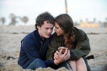 """Anton Yelchin and Felicity Jones share """"this thing"""" audiences are meant to see as young love in """"Like Crazy,"""" and of course, complications interfere. (Paramount Vantage via Associated Press)"""