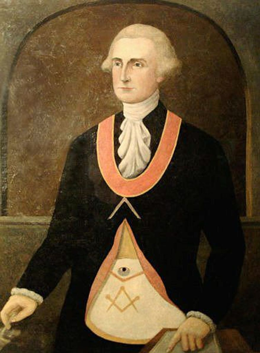 George Washington is one of several prominent figures in American history who were members of the Masonic fraternity. (Associated Press)