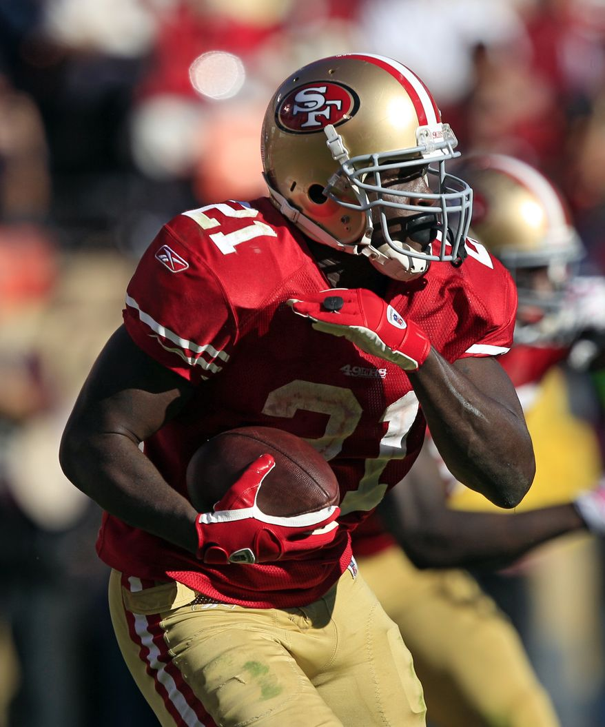 San Francisco 49ers running back has 675 yards and five touchdowns on the ground this season. He has rushed for at least 125 yards in four straight games. (AP Photo/Marcio Jose Sanchez)