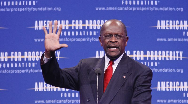 Republican presidential candidate Herman Cain speaks at the Defending the American Dream Summit in Washington on Nov. 4, 2011. (Associated Press)