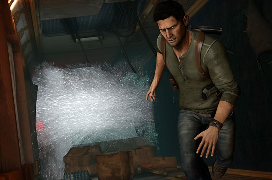 Nathan Drake is back and in big trouble in the video game Uncharted 3: Drake's Deception.