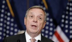 """Senate Majority Whip Richard J. Durbin, Illinois Democrat, won his fight against debit-card fees. Now he wants banks to be more transparent when it comes to the costs associated with checking accounts. """"[T]he bottom-line goal is to make sure people know what they're being charged and can determine whether it's fair,"""" he said last week. (Associated Press)"""