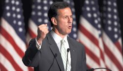 FILE - In this June 24, 2011 file photo Republican presidential candidate, former Pennsylvania Sen. Rick Santorum speaks in Jacksonville, Fla. Twitter is abuzz with presidential candidates this year, though not all in the Twittersphere are equal. (AP Photo/Rick Wilson, File)