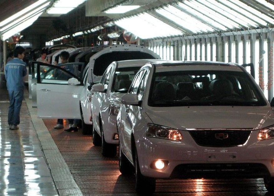 Cars ready for driving come off the final assembly line in Ningbo, China. In 2006, China became the world's third-largest car market with sales soaring by 40 percent to 4.1 million vehicles, though it could be years before the country's products make a dent in the world market. (Orange County [Calif.] Register)