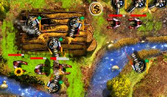 Monsters never stop attacking in the iPad game GRave Defense HD.