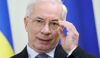 Ukrainian Prime Minister Mykola Azarov (Associated Press)