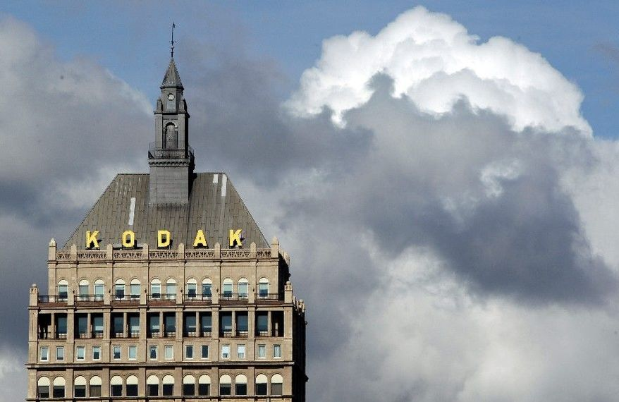 Struggling photography pioneer Kodak, which has headquarters in Rochester, N.Y., announced late Monday the sale of its image sensor business to Platinum Equity for an undisclosed amount analysts say is a first step in the direction of profitability. (Associated Press)