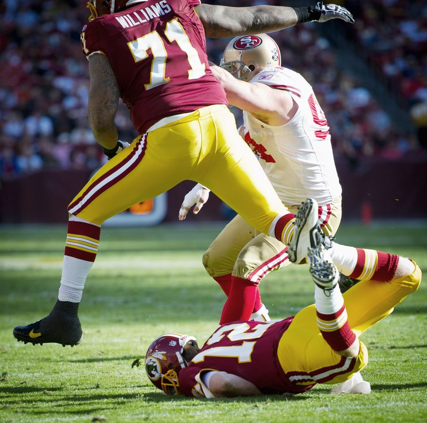 Although they avoided a shutout, quarterback John Beck and the Redskins' offense continued to fall flat against the 49ers. (Rod Lamkey Jr. / The Washington Times)