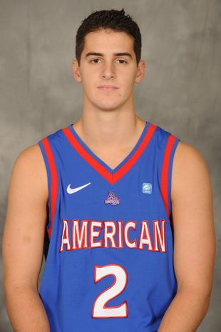 With the loss of several key players from last year's team, AU point guard Daniel Munoz will be relied on heavily this season to take the next step. (American University Athletics)