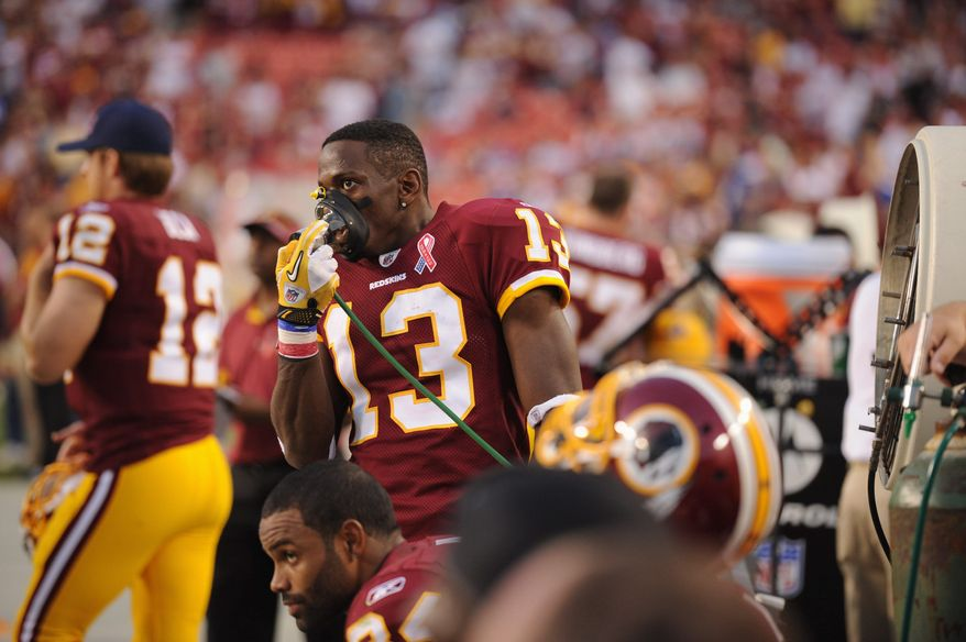 Redskins receiver Anthony Armstrong, a fixture in the offense last season, saw his playing time reduced to just eight snaps last Sunday. (Andrew Harnik/The Washington Times)