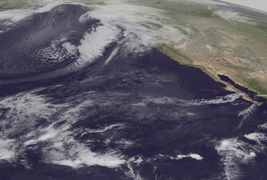 This image from the NOAA-19 satellite's AVHRR sensor shows the strong storm bearing down on western Alaska in this infrared imagery on Wednesday, Nov. 9, 2011, at 5 a.m. EST. (AP Photo/National Oceanic and Atmospheric Administration)