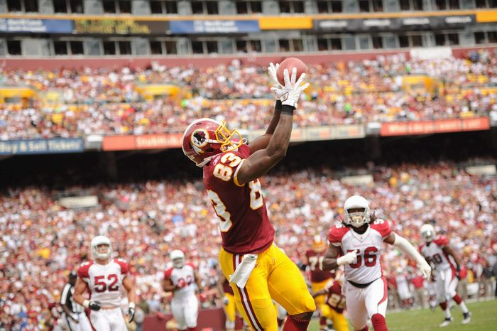 Washington Redskins tight end Fred Davis has been a force with 40 catches for 559 yards. (Andrew Harnik/The Washington Times)