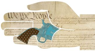 Illustration: Concealed carry by Linas Garsys for The Washington Times