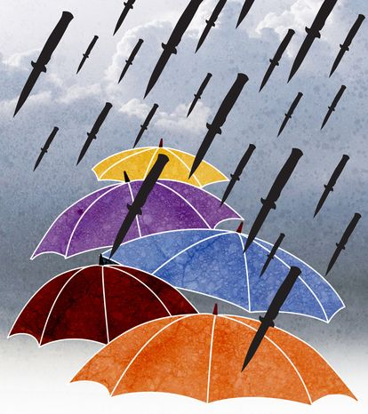 Illustration: Raining regulations by Greg Groesch for The Washington Times