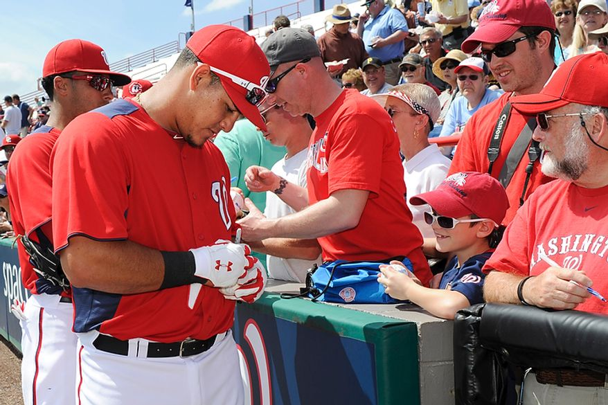 Washington Nationals Wilson Ramos on March 14, 2011.Todd Anderson/Special to The Washington Times