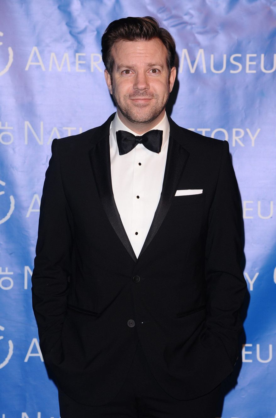 """""""Jason Sudeikis wore horns rather than a tuxedo on """"Saturday Night Live,"""" playing a disgusted Satan hearing about the PennState scandal.  (Associated Press)"""