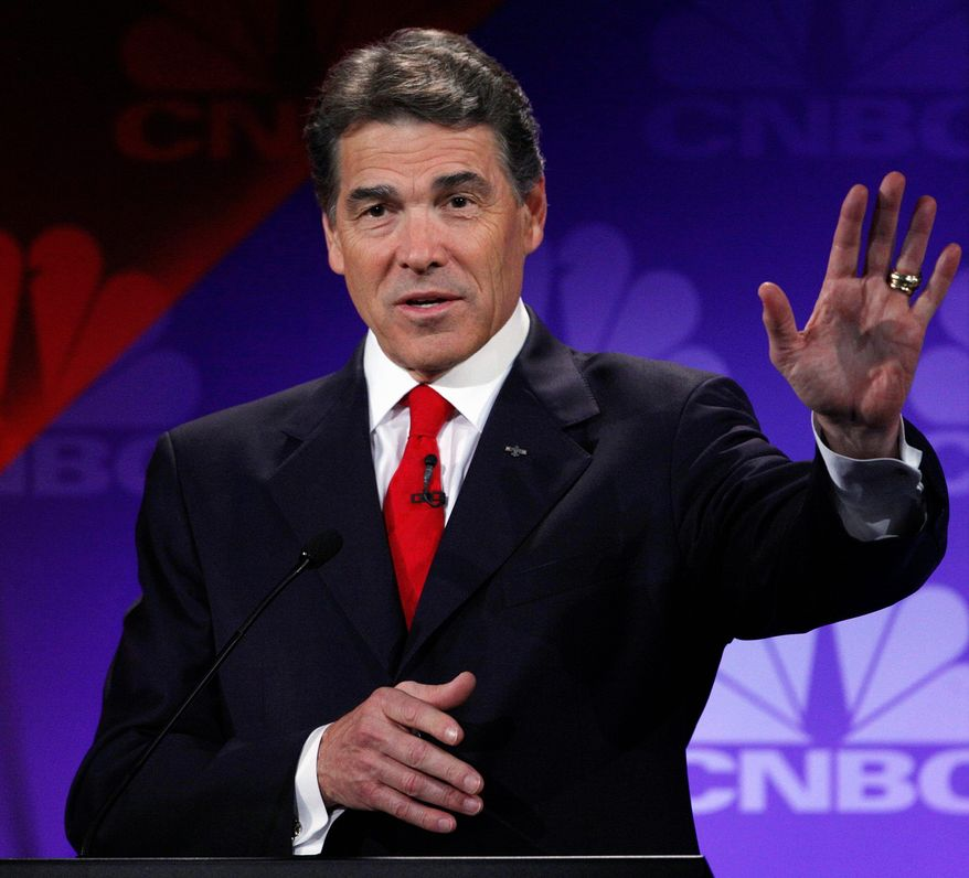 "Texas Gov. Rick Perry calls the No Child Left Behind Act a ""direct assault on federalism."" (Associated Press)"
