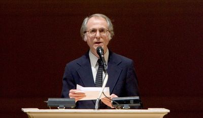 "Author Don DeLillo, seen here in April 2008, is best-known for his novels ""White Noise,"" ""Libra"" and the epic ""Underworld."" He now has his first collection of nine short stories, ""The Angel Esmeralda.""  (Associated Press)"