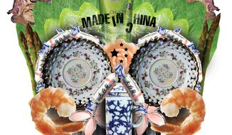 Illustration: Made in China by Linas Garsys for The Washington Times