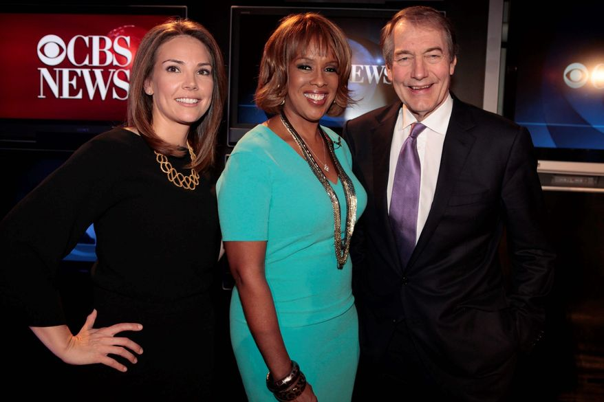 "In this image released by CBS, from left, Erica Hill, Gayle King and Charlie Rose, the new hosts of a morning show that will replace ""The Early Show,"" are shown in New York on Tuesday, Nov. 15, 2011. The network said Tuesday the perennially third-rated morning show will change its name, but didn't announce a new one. The new show premieres Jan. 9, 2012, and will air from 7:00-9:00 AM EST on CBS. (AP Photo/CBS, Craig Blankenhorn)"