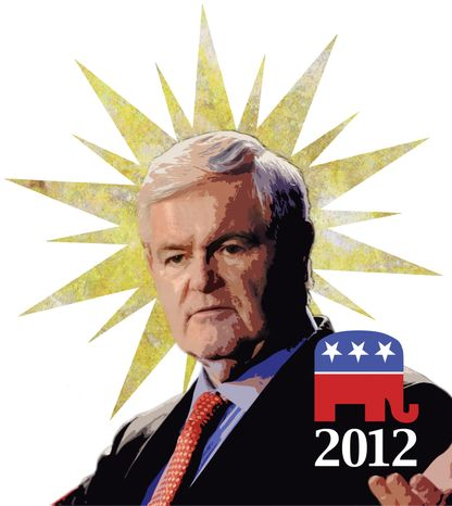 Illustration: Newt Gingrich by Greg Groesch for The Washington Times