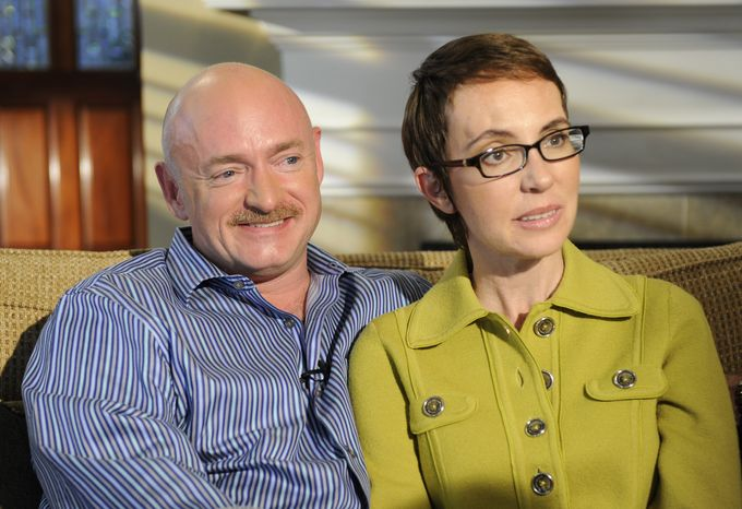 Rep. Gabrielle Giffords and husband Mark Kelly are interviewed by Diane Sawyer on ABC's 20/20. The show, featuring the first public interview Giffords has given since she was shot in the head in Tucson last winter, aired Nov. 14, 2011. (Associated Press/ABC)