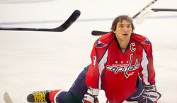 ** FILE ** Alex Ovechkin (8) of the Washington Capitals during the teams win in overtime against the Anaheim Ducks in NHL Hockey at the Verizon Center, Washington, D.C., Tuesday, Nov. 1,  2011. (Andrew Harnik/The Washington Times)