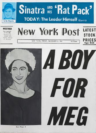 """""""Warhol: Headlines,"""" at the National Gallery, is a visual rebuttal to the new conventional wisdom that newspapers headlines have outlived their usefulness."""